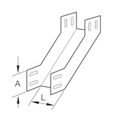 Eletrocalha Curva Vertical Interna 90° Subida Lisa 100x100mm Chapa n°20 PG 936963 CEMAR