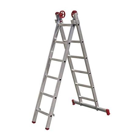 Escada de Alumínio Extensiva Tesoura 12 Degraus 1.84m ESC0615 BOTAFOGO