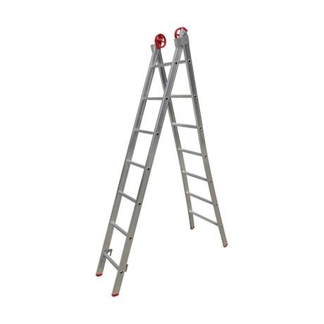 Escada de Alumínio Extensiva Tesoura 14 Degraus 2.13m ESC0616 BOTAFOGO