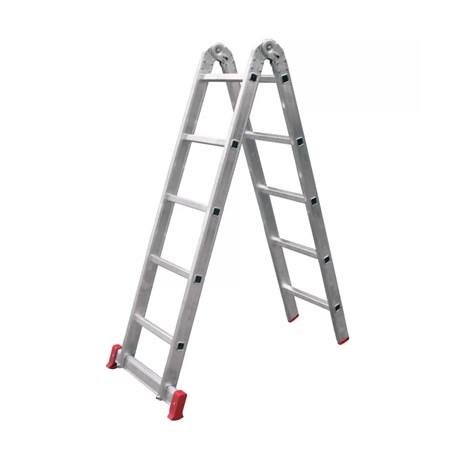 Escada de Alumínio Multifunção 10 Degraus 3X1 1,30M ESC0576