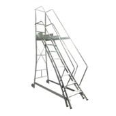 Escada de Aluminio Trepadeira 7 Degraus Corrimao 2 Lados TR 202/TR 201