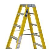 Escada de Fibra de Vidro Tesoura 6 Degraus 1.95m TF-6A COGUMELO