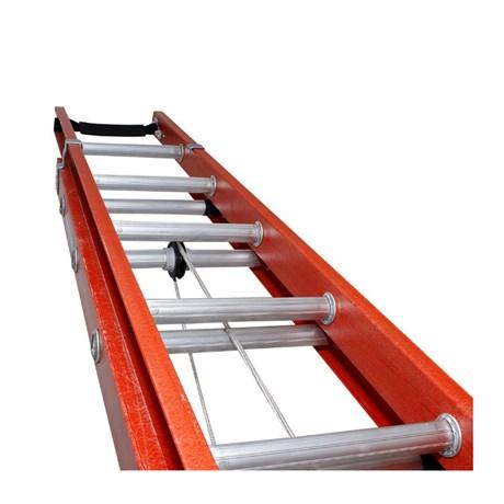 Escada Fibra de Vidro Extensível 19 Degraus EFV-19 Cogumelo
