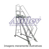 Escada Trepadeira 2 Degraus com Corrimão TR 072 ALULEV