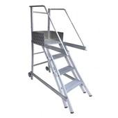 Escada Trepadeira de Alumínio 3 Degraus e Corrimão TR 102 ALULEV