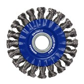 """Escova de Aço Carbono Circular Rotativo Trançado 4.1/2"""" 06794 INEBRAS"""