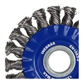 """Escova de Aço Carbono Circular Rotativo Trançado 7"""" 06799 INEBRAS"""