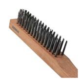 Escova de Aço Carbono Manual 4 Fileiras 06712 INEBRAS