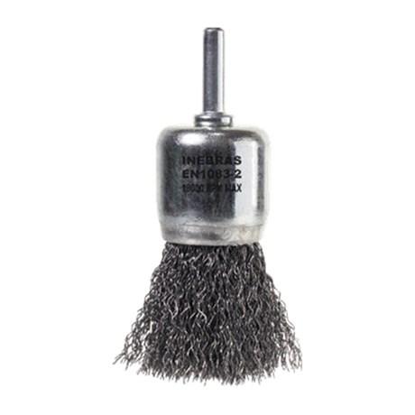 Escova de Aço Carbono Pincel Ondulada com Haste 06726 INEBRAS