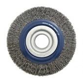 """Escova de Aço Carbono Rotativa Circular Ondulada 4"""" 06657 INEBRAS"""