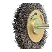 """Escova de Aço Carbono Rotativa Circular Ondulada com Haste 2"""" 06696 INEBRAS"""