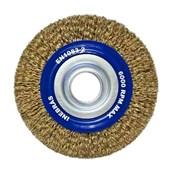"Escova de Aço Latonado Rotativa Circular Ondulada 6"" 06370 INEBRAS"