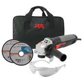 """Esmerilhadeira Angular 4.1/2"""" 830W com 2 Discos e Bolsa + Óculos de Proteção 9004 SKIL"""