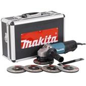 """Esmerilhadeira Angular 4.1/2"""" 840W com 5 Discos e Maleta 220V 9557HPGX2 MAKITA"""