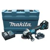 """Esmerilhadeira Angular 5"""" 18V com 2 Baterias e Maleta 110/220V DGA504RFE MAKITA"""