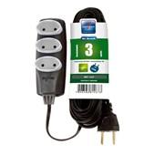 Extensão Elétrica PL 2x0,75 mm² 3m 10A 1465 NO SHOCK DANEVA