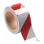 Fita para Demarcação de Solo 48mm x 30m Vermelha e Branca 700.01528 PLASTCOR