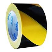 Fita Zebrada de Isolamento 70mm x 200m Amarela e Preta 700.00082 PLASTCOR
