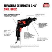 "Furadeira de Impacto 3/8"" 570W 6602 SKIL"
