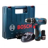"""Furadeira de Impacto 3/8"""" sem Fio com Kit 23 Peças GSB 1200-2-LI Bosch"""