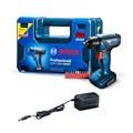 Furadeira/Parafuraseira 1/4'' 12V 110/220V com Bateria e Carregador + Maleta e Kit com 10 bits GSR 1