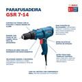 Furadeira/ Parafusadeira 400W GSR 7-14E BOSCH
