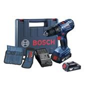 """Furadeira/ Parafusadeira de Impacto 1/2"""" 18V Bivolt 2 Baterias + Kit de Acessórios e Maleta GSB180LI BOSCH"""