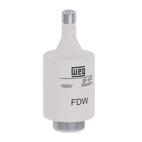 Fusível gL/gG tipo DII Fixação Parafuso 16A 50kA em 500Vca FDW-16S WEG