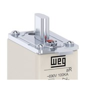 Fusível NH aR Ultra Rápido 100A 100kA em 690Vca FNH00-100K-A WEG