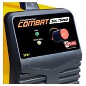Inversora de Solda 200 Amperes com Cabos 220V COMBAT TURBO