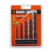 Jogo de Brocas de Aço Rápido e Concreto 9 peças 15557EP BLACK + DECKER