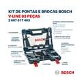 Jogo de Brocas e Pontas para Parafusar V-Line com 83 peças 2607017403 BOSCH