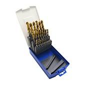 Jogo de Brocas para Metais 1.0mm à 13.00mm 25 Peças TIN Afiação em Cruz TW100 LENOX TWILL