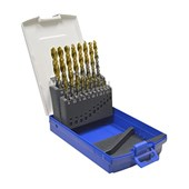 Jogo de Brocas para Metais TIN 1 à 10mm 19 Pecas Afiação em Cruz  TW100 LENOX TWILL