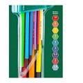 Jogo de Chave Hexagonal Colorida L Longa com 9 Peças ST09107CHBSJ SATA