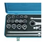 Jogo de Soquete 10 a 32mm com Catraca Reversível 19KMU GEDORE