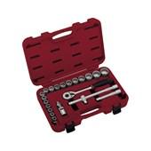 """Jogo de Soquete Multi Lock 10 a 32mm Encaixe 1/2"""" ML120"""