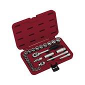 """Jogo de Soquete Multi-lock 6 a 24mm Encaixe 3/8"""" ML100"""