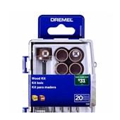 Kit Acessórios de Micro Retífica para Madeira 20 Peças 26150733AB DREMEL