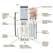 Kit Barramento Bifásico 100A para 44 Módulos DIN 904388N CEMAR