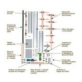 Kit Barramento Trifásico 100A para 44 Módulos DIN 904384N CEMAR