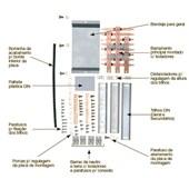 Kit Barramento Trifásico 150A para 24 Módulos DIN 904542N CEMAR