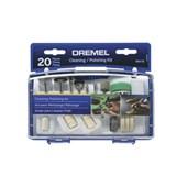 Kit de Acessórios para Limpar e Polir com 20 Peças Dremel 684