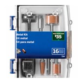 Kit de Acessorios para Micro Retifica com 16 Peças 26150734AB DREMEL