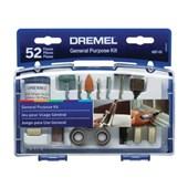Kit de Acessórios para Micro Retífica com 52 peças 26150687AA DREMEL