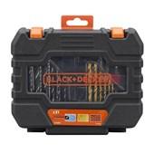 Kit de Bits e Brocas com 31 Peças A7233-Xj Black + Decker