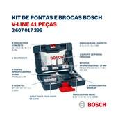 Kit de Brocas e Bits V-Line com 41 Peças 2607017316