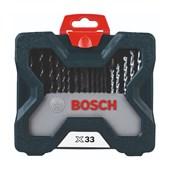 Kit de Pontas e Brocas X-Line para Parafusar e Perfurar com 33 Unidades 2607017398 BOSCH