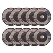 """Kit Discos de Desbaste para Ferro e Metal 4.1/2"""" X 1/4"""" X 7/8"""" 10 Peças 2608603181 BOSCH"""