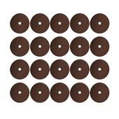 """Kit Discos de Lixa para Aço 7"""" 7/8"""" Grão 100 Fibra Metalite 20 Peças F 247 NORTON"""